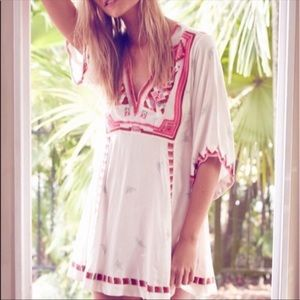 Free People 🌸 Embroidered Tunic Dress